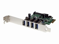 StarTech.com 4-poorts PCI Express PCIe SuperSpeed USB 3.0