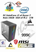 Intel®Core i7 of Ryzer 7 -16GB DDR4 - M2  1TB